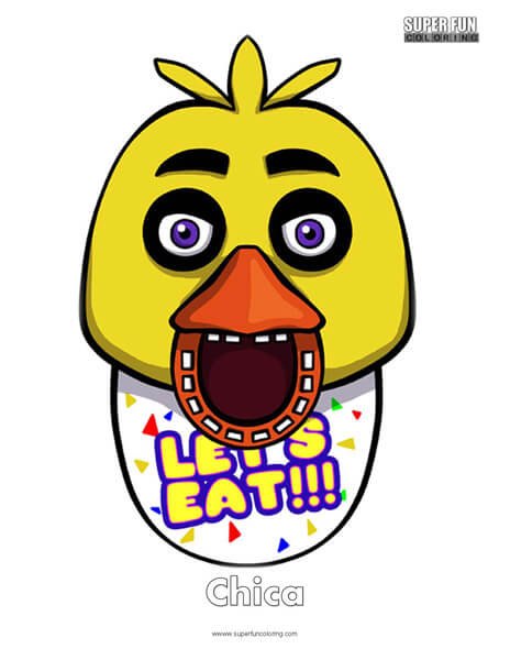 Chica- FNAF Coloring Sheet Five Nights at Freddy's