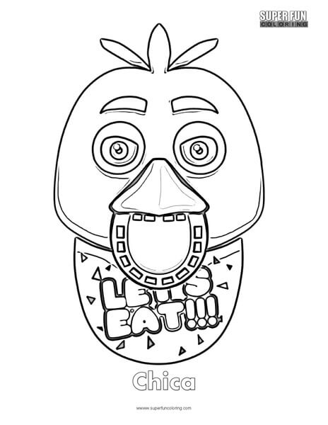 Chica Coloring Page FNAF Sheets