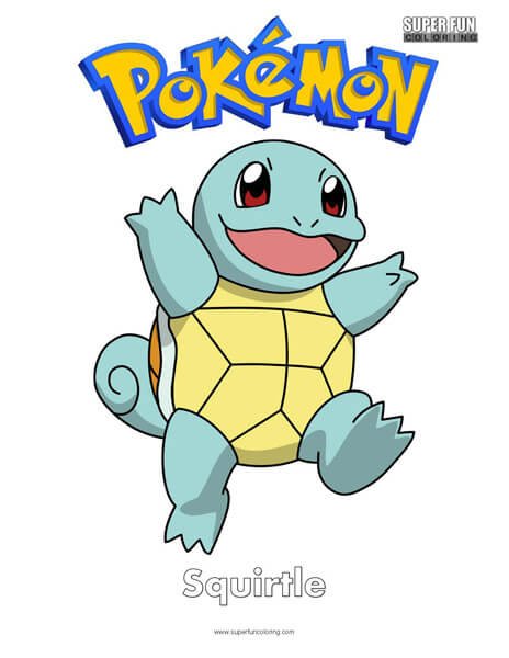 Squirtle coloring page | Free Printable Coloring Pages | 600x464