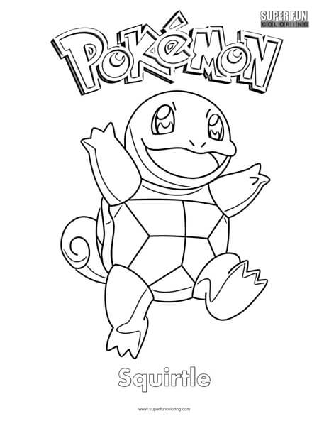 Pokemon Squirtle Coloring Page Super Fun Coloring