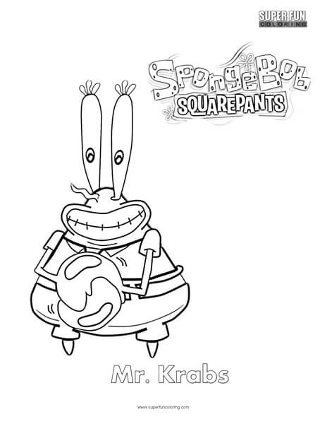 Mister Krabs- Spongebob Coloring