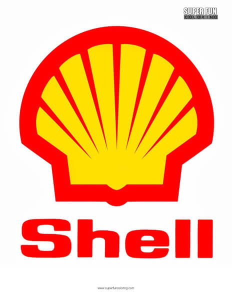 Shell Logo Coloring Page Free