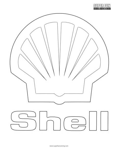 Shell Logo Coloring Page