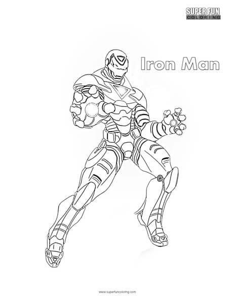 Iron Man Superhero Coloring Page