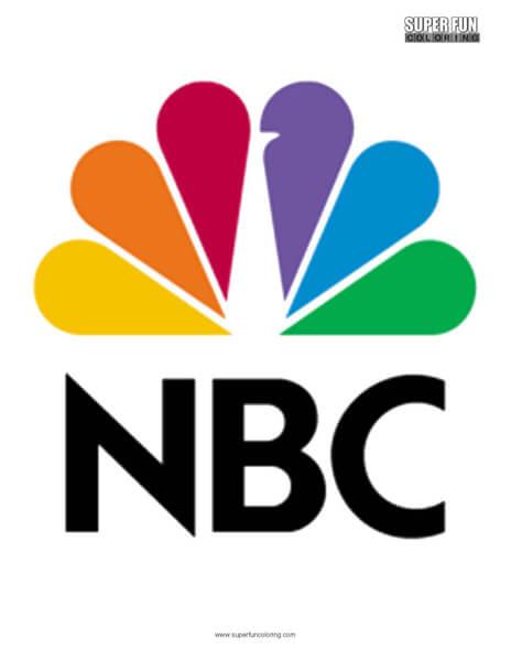 NBC Logo Coloring Page Free