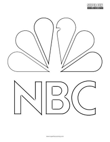 NBC Logo Coloring Page