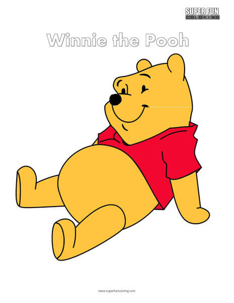 Winnie the Pooh Coloring Page Disney