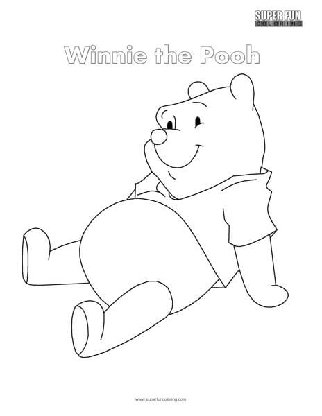 Winnie The Pooh Coloring Page - Super Fun Coloring