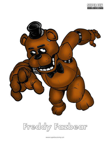Freddy- FNAF Coloring Sheet Five Nights at Freddy's