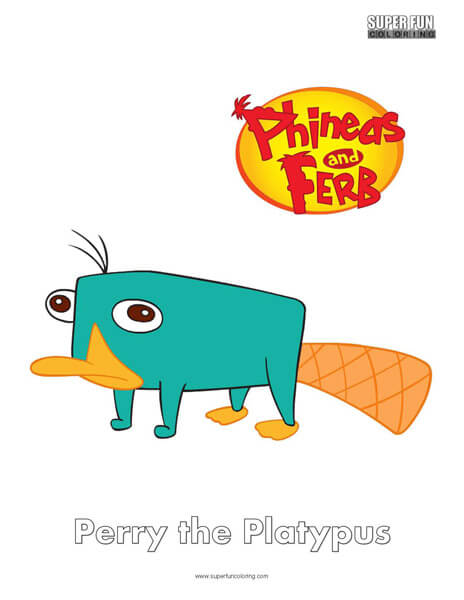 Perry- Free Phineas and Ferb Coloring Pages