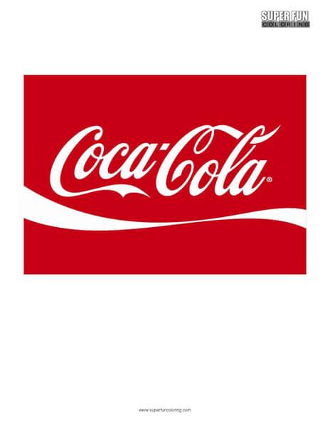 Coca Cola Logo Coloring Page Free