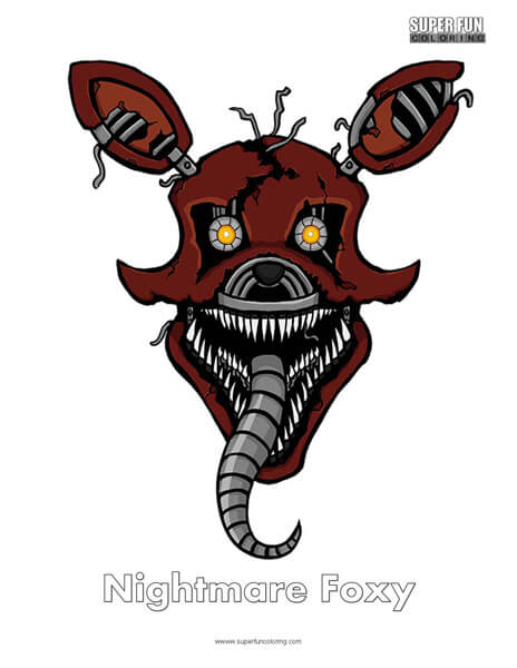 Nightmare Foxy- FNAF Coloring Sheet Five Nights at Freddy's