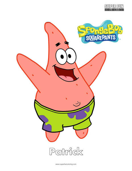 Patrick Spongebob Coloring Super Fun Coloring