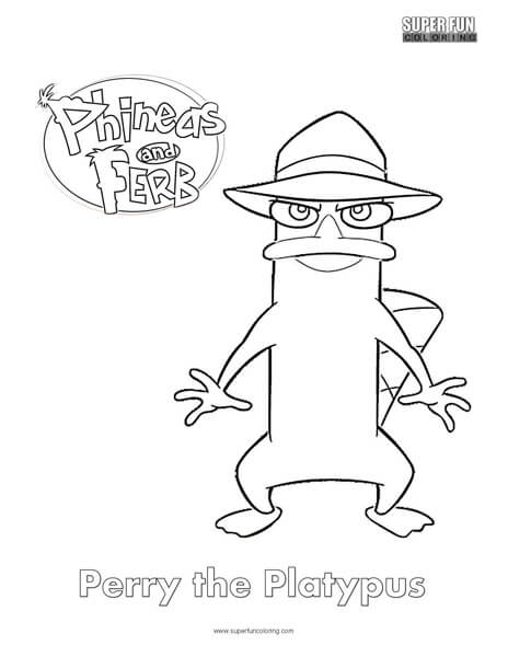 Perry the Platypus- Phineas and Ferb Coloring