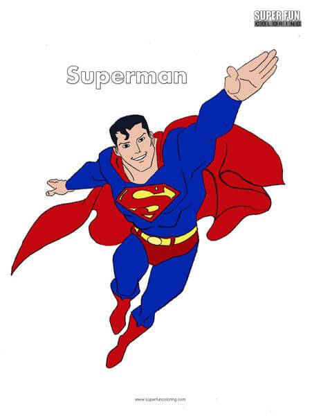 Superman Free Superhero Coloring Page