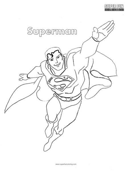 Superman Superhero Coloring Page