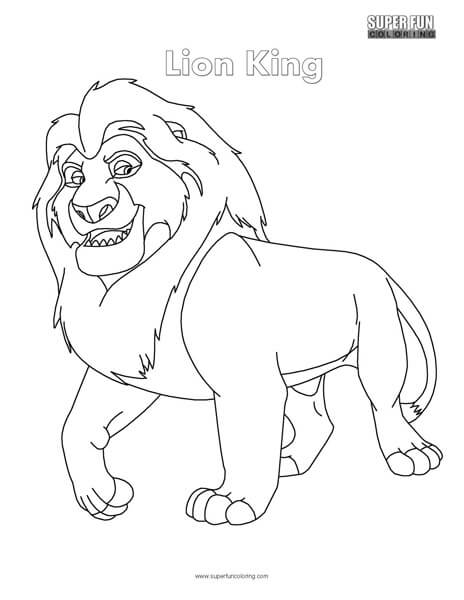 Lion King Top Free Disney coloring page