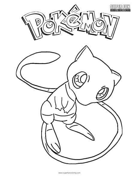 Mew Pokemon Coloring Page