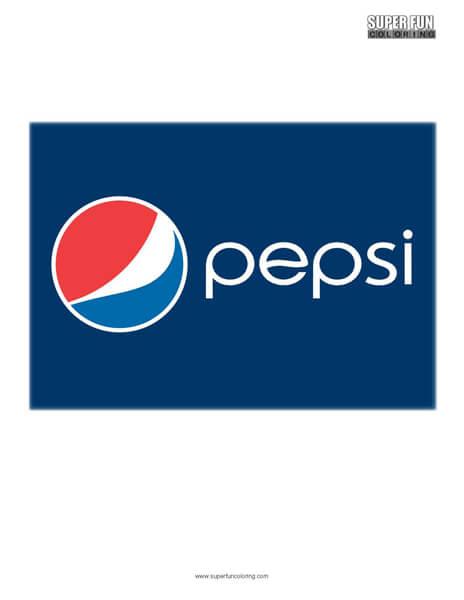 Pepsi Logo Coloring Page Free