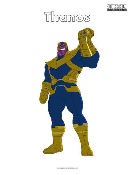 Thanos Free Superhero Coloring Page