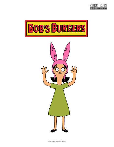 Louise Bob's Burgers Coloring Sheet
