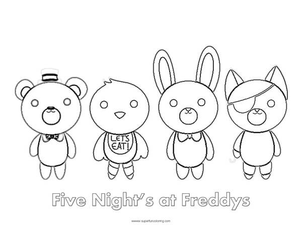 - Five Nights At Freddy's Coloring Sheet - Super Fun Coloring