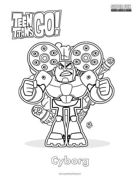 Cyborg- Teen Titans Go Coloring