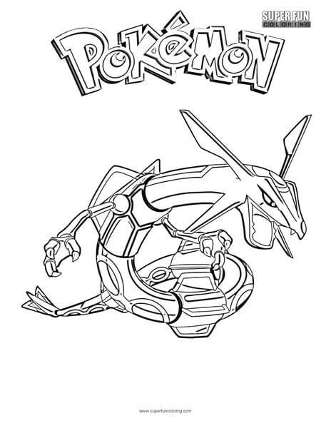 Rayquaza Pokemon Coloring Page Super Fun Coloring