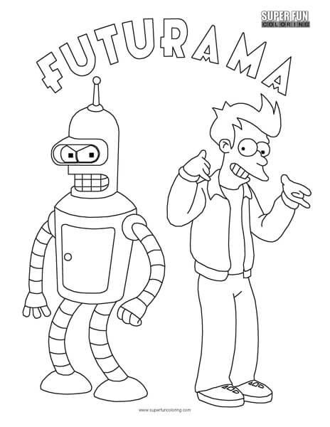 Futurama Coloring Sheet