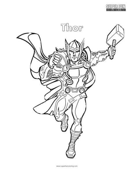 Thor Coloring Page Super Fun