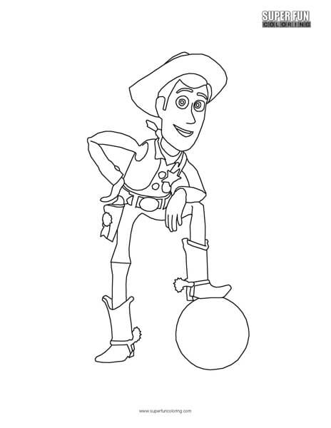 Woody- Toy Story Top Free Disney coloring page