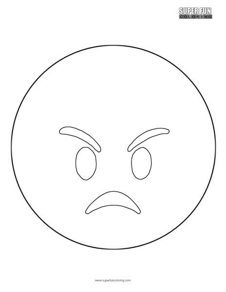 Angry Emoji Coloring Sheet Top Free