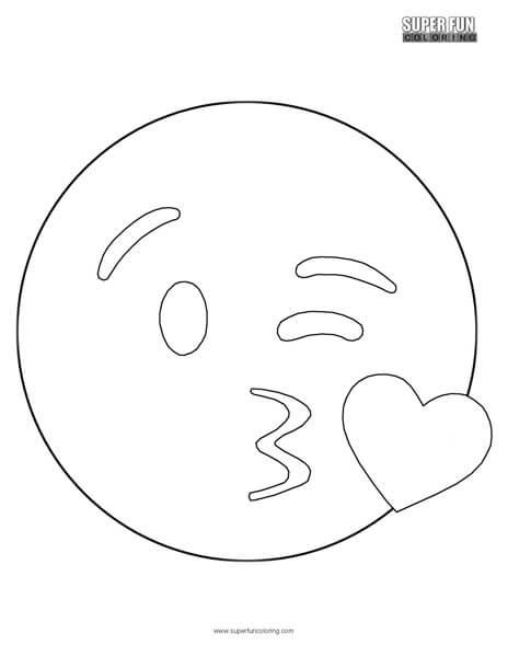 Kissing Emoji Coloring Sheet Top Free