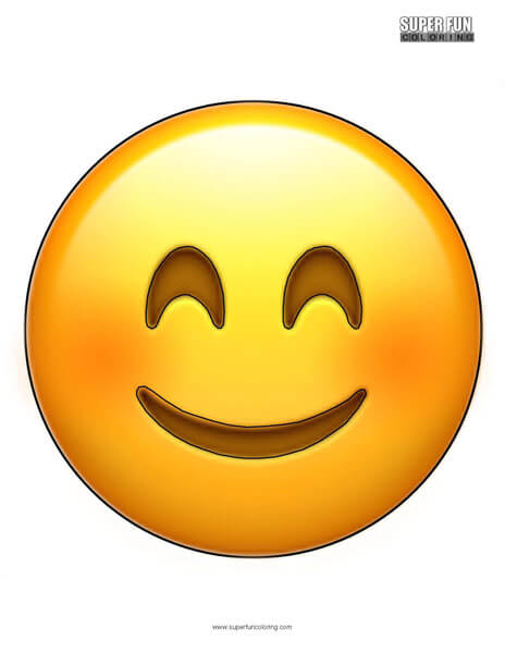 Smiley Face Emoji Coloring Sheet