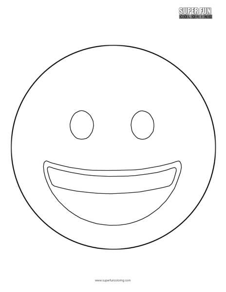 Smiling Face Emoji Coloring Sheet Top Free