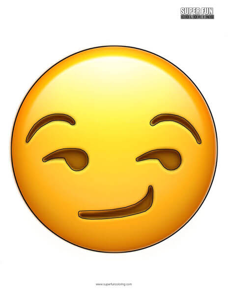 Smirk Emoji Coloring Sheet