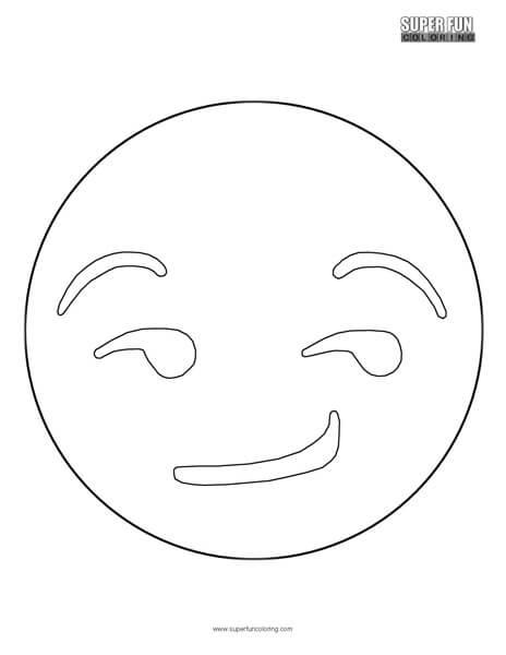 Smirk Emoji Coloring Sheet Top Free