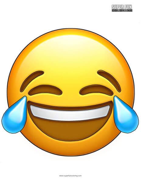 Tears of Joy Emoji Coloring Sheet