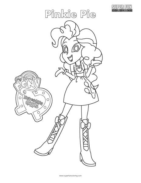 Equestria Girls- Pinkie Pie Coloring Page