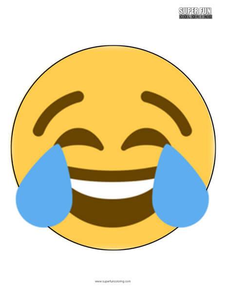 Twitter Crying Laugh Emoji Coloring