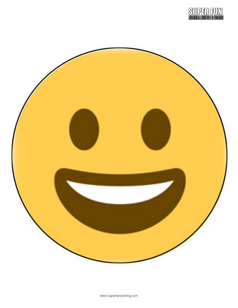 Twitter Smiling Face Emoji Coloring