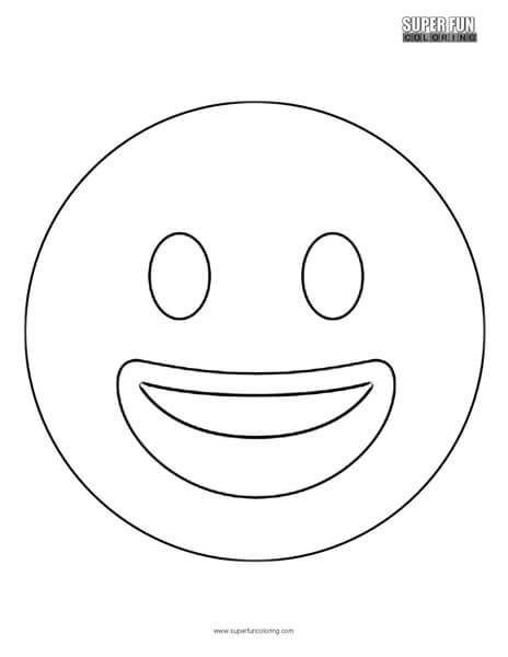 Twitter Smiling Face Emoji Coloring