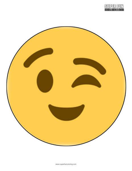 Twitter Wink Emoji Coloring