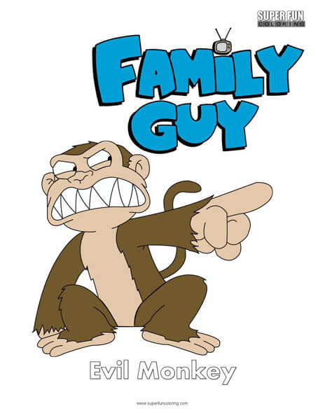 Evil Monkey Family Guy Coloring Sheet