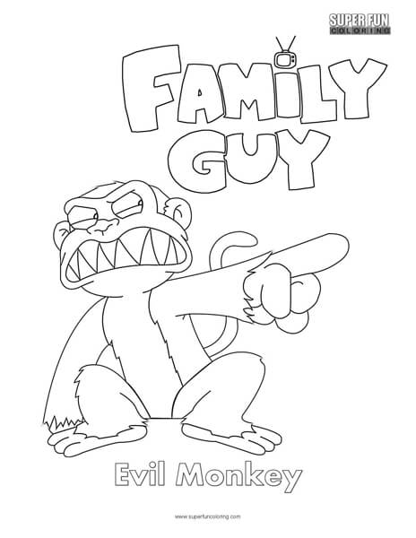 Evil Monkey- Family Guy Coloring Page