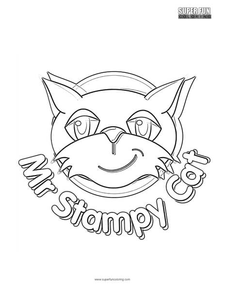 Mr. Stampy Cat Coloring Page