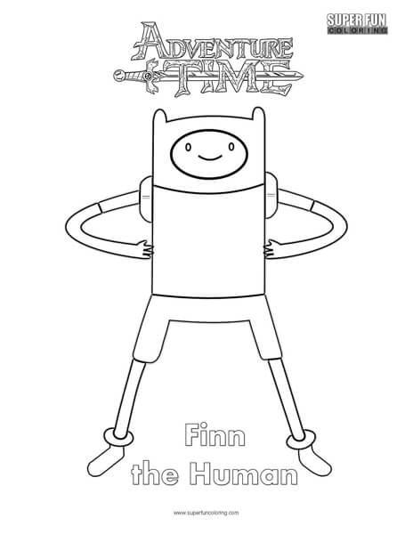 Finn- Adventure Time Coloring Page