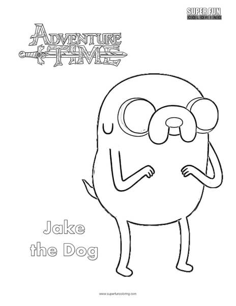 Jake the Dog- Adventure Time Coloring Page
