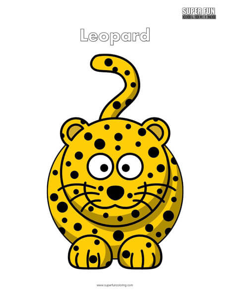 Cartoon Leopard Coloring Page Free