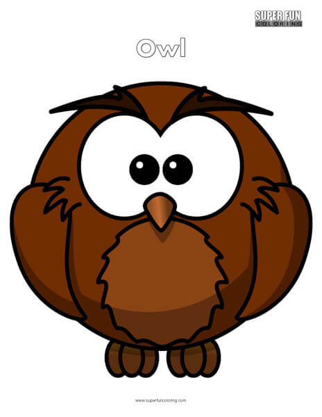 Cartoon Owl Coloring Page Free